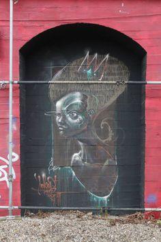 Street art | Mural by Sokar Uno Graffiti Girl, Street Art Graffiti, Graffiti Designs, Amazing Street Art, Community Art, Public Art, Urban Art, Cool Art, Art Pieces
