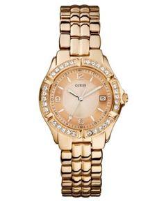Guess Watch, Women's Rose Gold-Tone Stainless Steel Bracelet 36mm U11069L1