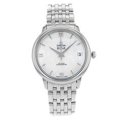 Omega DeVille 42410332005001 Mother Of Pearl Dial Stainless Steel Automatic Ladies Watch Certified Preowned *** Be sure to check out this.