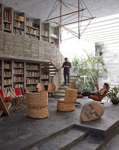 Home & Studio of Mexican Sculptor Pedro Reyes & Carla Fernandez | http://www.yellowtrace.com.au/brutalist-architecture-home-studio-library-mexico-pedro-reyes-carla-fernandez/