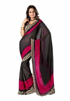 Fabdeal Indian Designer Faux Georgette Black Printed Saree Fabdeal, http://www.amazon.de/dp/B00INWKW82/ref=cm_sw_r_pi_dp_Rl7otb048QQA6