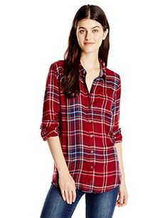 449921e3a30f8 Lucky Brand Women s Bungalow Flannel Shirt