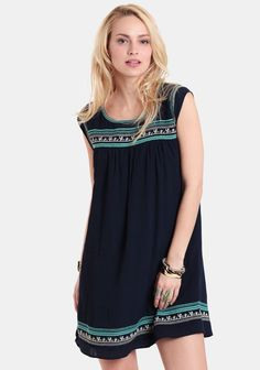 River Edge Embroidered Dress