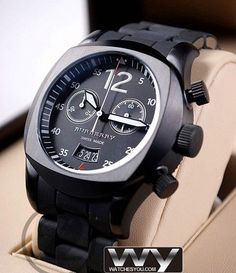 Burberry Military Inspired Chronograph Watch Mens BU7640