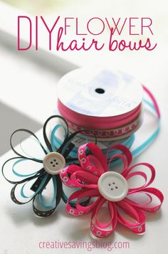 This step-by-step tutorial on how to make your own DIY flower hair bows is not only easy, it only costs pennies to make!