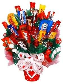 Candy gift basket. Good gift for male teacher.