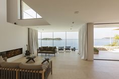 Living room and the view of the sea
