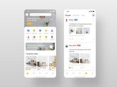 Webdesign mobile app home screen design, mobile app ui . Ui Design Mobile, Logo Design, App Ui Design, Interface Design, User Interface, Flat Design, Graphic Design, Apps Für Android, Android App Design