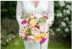 Bridal bouquet by Barbara at Lillies of Wanstead. Got Married, Getting Married, Wedding Bouquets, Wedding Flowers, First Dance Photos, Multicolor Wedding, Party Venues, Funeral Flowers, Flowers Online