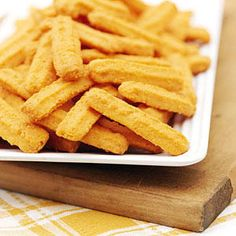 Cheddar Cheese Straws - Savory Cheese Straw Recipes - Southernliving. Recipe: Cheddar Cheese Straws  Savory and rich with just a bit of a peppery bite, cheese straws are great party snacks. They're especially easy to make and travel well.  Watch: How To Make Homemade Cheddar Cheese Straws