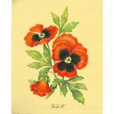 Image 3D Fleur - Coquelicots rouges sur fond 24 x 30 cm