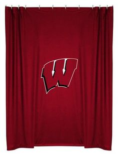 University of Wisconsin Badgers Kids Fabric Shower Curtain
