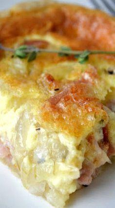 Vidalia Onion and Ham Quiche