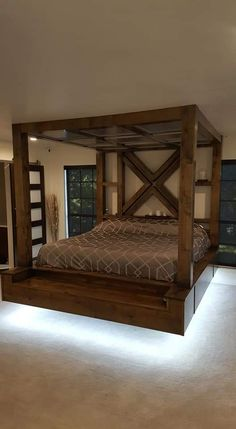 Bedroom Furniture Design, Bed Furniture, Furniture Plans, Bed Frame Design, Bed Design, Room Ideas Bedroom, Home Decor Bedroom, Romantic Bedroom Decor, Floating Bed Frame