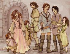 Rickon, Sansa, Bran, Theon, Robb, Jon, and Arya.