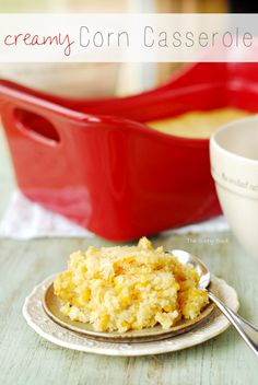 Creamy Corn Casserole Recipe | A delicious side dish for holiday dinners like Thanksgiving and Christmas.