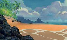 Empty Backdrop from Lilo and Stitch - disney-crossover Screencap