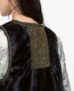 ZARA - COLLECTION SS15 - EMBROIDERED VELVET WAISTCOAT