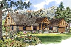 Plan Mountain Home Plan with Finished Walkout Basement Basement House Plans, Walkout Basement, Best House Plans, House Floor Plans, Southern Living House Plans, Valensole, Mountain House Plans, Fancy Houses, Roof Plan