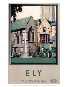 This Ely Close up of Cathedral Art Print Art Print is created using state of the art, industry leading Digital printers. The result - a stunning reproduction at an affordable price. Ely Close up of Cathedral Ely Cathedral, British Travel, National Railway Museum, Travel Ads, Railway Posters, Vintage Art Prints, Vintage Travel Posters, Cool Posters, Illustrations Posters