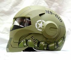 Motorcycle army helmet
