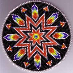 Native American Beadwork, Native American and Native American Beading Native Beading Patterns, Beadwork Designs, Beaded Earrings Patterns, Bead Loom Patterns, Indian Beadwork, Native Beadwork, Native American Beadwork, Mochila Crochet, Bag Crochet