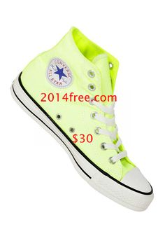 026abdd553 Converse Shoes Washed Neon Yellow Chuck Taylor All Star Classic High Top  Converse High
