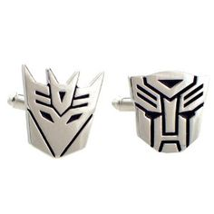 Autobot and Decepticon: Transformer Cufflinks (Other options available from batman, spider man, and more!)