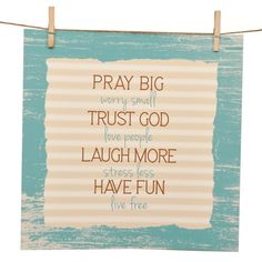 Pray Big, Trust God Giclee' Watercolor Print Fun Live, Stress Less, People Laughing, Faith In Love, Love People, Words Of Encouragement, Watercolor Print, Trust God, Wall Collage