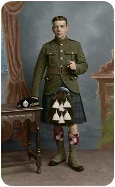 Scotland, kilt, military, uniform, Scottish, tartan, plaid, portrait