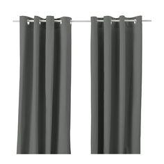 IKEA - MERETE, Gardiner, 1 par, , Tykke gardiner hjelper med å gjøre rommet mørkere og gir privatliv ved å hindre innsyn.Ringer øverst gjør det enkelt å henge gardinene på en gardinstang.