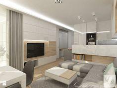 Projekt mieszkania w Pruszkowie - pow. 52,5 m2. - Salon, styl nowoczesny - zdjęcie od 4ma projekt