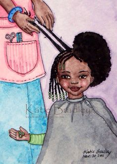 I remember my mom doing this to me when I was little.  Moms know best how to take care of our natural hair. :)