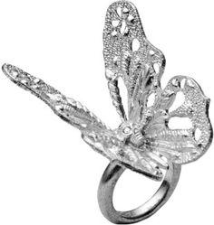 Alexander Mcqueen Ring in Metallic
