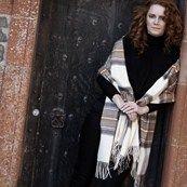 Luxurious Cashmere Tartan Stole made in Scotland