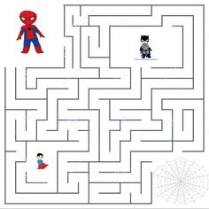 Spiderman, Printable Mazes, School Ot, Maze Game, Holiday Club, Pediatric Ot, Handwriting Worksheets, Craft Activities For Kids, Halloween Party