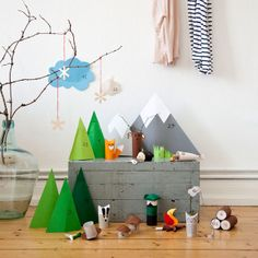 I think we need to create something like this!  I've been saving toilet paper rolls.  domestic candy: Emils Adventskalender