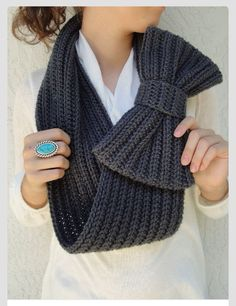 Crocheted bow scarf!!