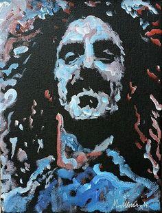 Frank Zappa Portrait Painting by Sarasota artist Matt Pecson