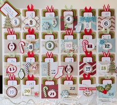 advent calendar - Library Pocket die - poster board (more like mat board) from… Advent Calendar Activities, Advent Calenders, Calendar Ideas, Family Activities, All Things Christmas, Christmas Holidays, Homemade Advent Calendars, Holiday Crafts, Holiday Ideas