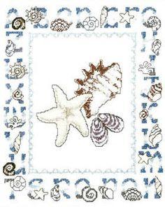 Seashell Alphabet - Cross Stitch Pattern