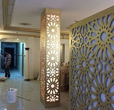 Pooja Room Door Design, Home Room Design, Bungalow House Design, House Front Design, Bakery Shop Interior, Cena Show, Columns Decor, Jaali Design, Hall Interior Design