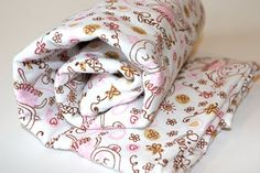 Baby Girl Swaddle Blankets Monkey Princess Pink and Brown Receiving Blankets Great Gift $7.50