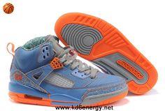 Blue Grey Orange Women Air Jordans 3.5