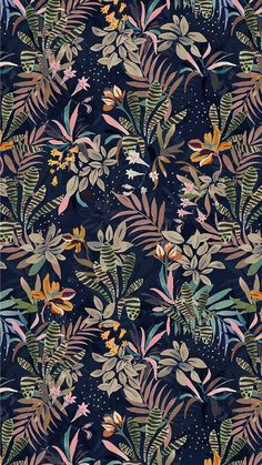 Floral Wallpaper Great Tagged with art background backgrounds drawings floral flower flowers gold green illustrations pattern patterns sketches wallpaper wallpapers Jungle Pattern, Pattern Illustration, Graphic Illustration, Cute Wallpapers, Wallpaper Backgrounds, Wallpaper Wallpapers, Handy Wallpaper, Room Wallpaper, Graphic Patterns