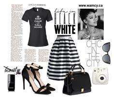 """Life in black white"" by wa-m-cy on Polyvore featuring Chicwish, STELLA McCARTNEY, Miu Miu, Fendi and Chanel"