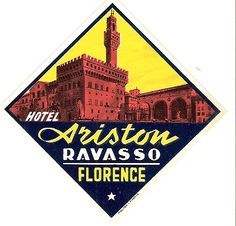 Hotel Ariston - Florence - Italy - Luggage Label