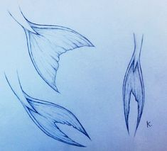 Mermaid Tails Drawing Mermaid tails by kawaiislug