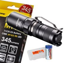 Nitecore MT1C Upgraded 345 Lumens 166 Yards Cree XP-G2 R5 LED Flashlight w/ 1x Tenergy CR123A and a Lumen Tactical Battery Organizer >>> Check this awesome product by going to the link at the image.