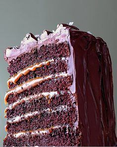 Huge fan of this combo - this looks like quite the challenge!     Salted-Caramel Six-Layer Chocolate Cake